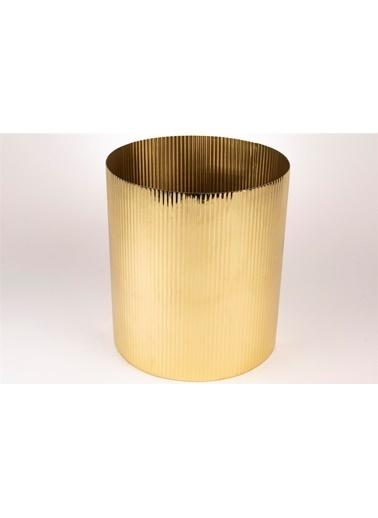 Mikasa Moor Gold Yuvarlak Çöp Kovası 21X23Cm Altın